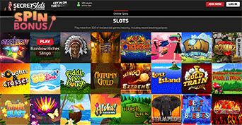 secret casino games
