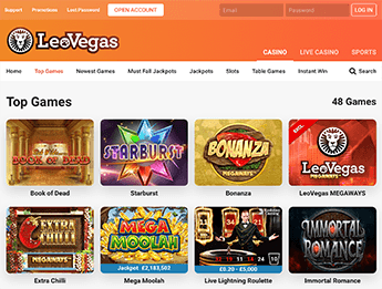 LeoVegas UK slots